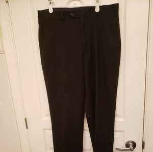 Pronto Uomo Men's Flat Front Black Pants Size 34